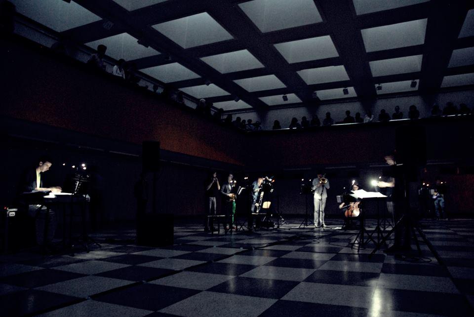 Ensemble Synaesthesis performing Modes_VDA. Photo by Vaidotas Digimas